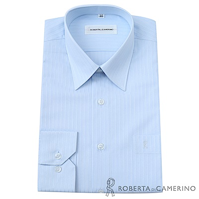 ROBERTA諾貝達 台灣製 嚴選穿搭 細條紋長袖襯衫 天藍