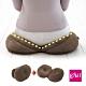 日本COGIT 貝果V型 美臀瑜珈美體坐墊 坐姿矯正美尻美臀墊-咖啡BROWN(多用款) product thumbnail 1