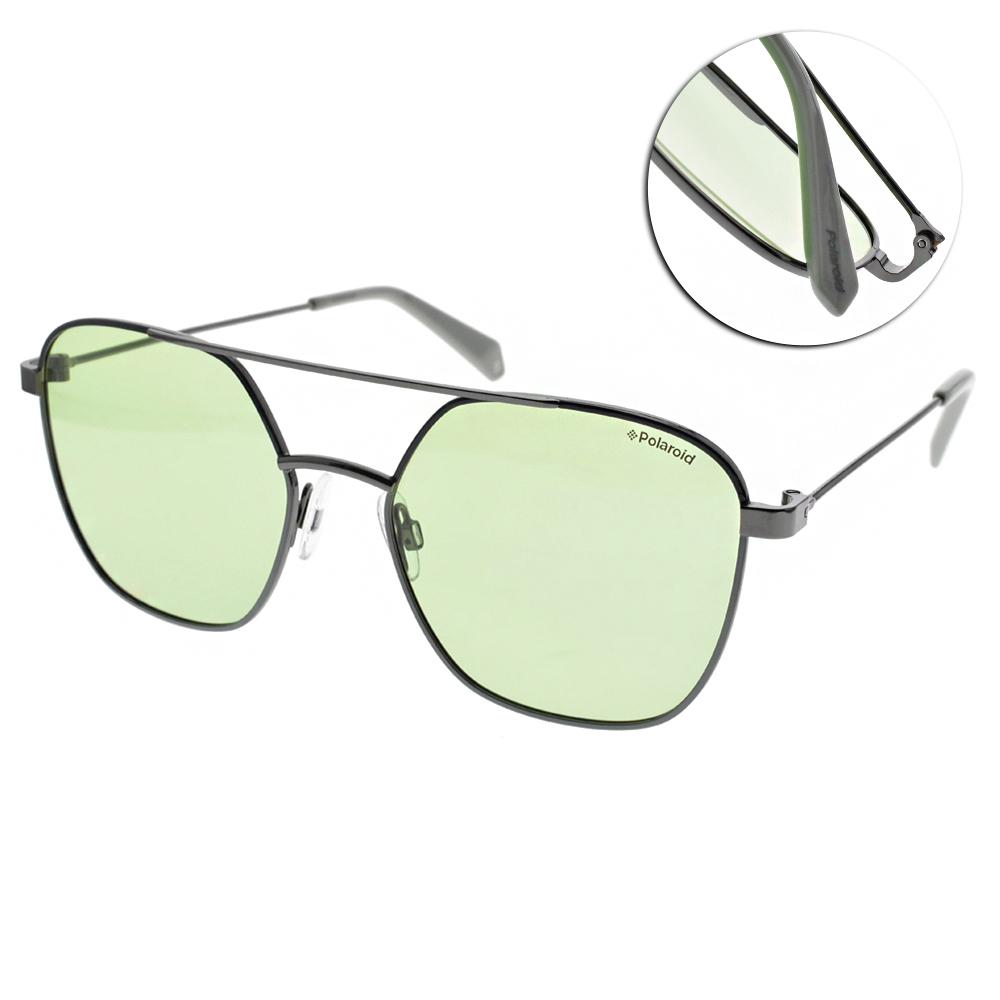 Polaroid 偏光太陽眼鏡 清新飛行款/槍綠 #PLD 6058S 1EDUC