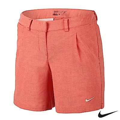Nike Golf 素面運動休閒排汗短褲 橘紅 725765-696