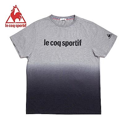 le coq sportif 法國公雞牌漸層配色字母短袖T恤 男-黑