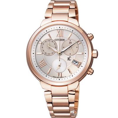 CITIZEN xC 鈦 輕盈時尚 光動能腕錶(FB1332-50A)35mm