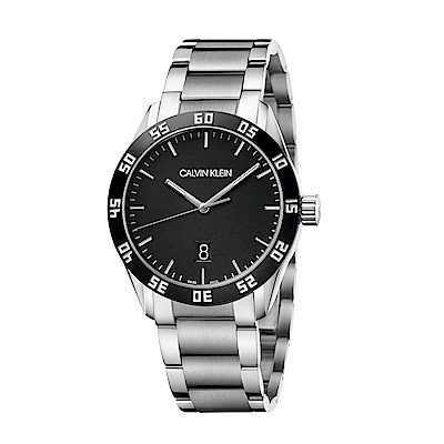 CALVIN KLEIN compete 系列手錶-黑/42mm