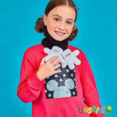 bossini女童-米奇系列厚棉上衣01亮桃紅