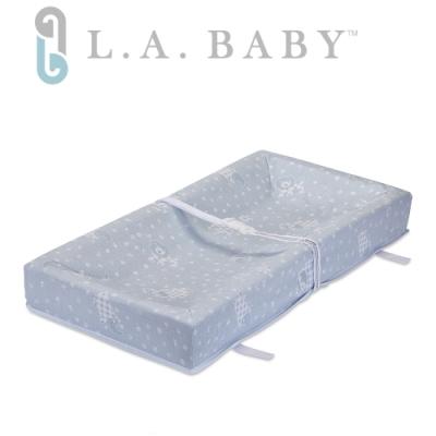 【L.A. BABY】寶寶更衣墊尿布墊(四邊圍) 藍色