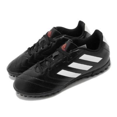 adidas 足球鞋 Goletto VII TF J 童鞋 愛迪達 室內場 短釘 皮革 中大童 黑 白 FV8710