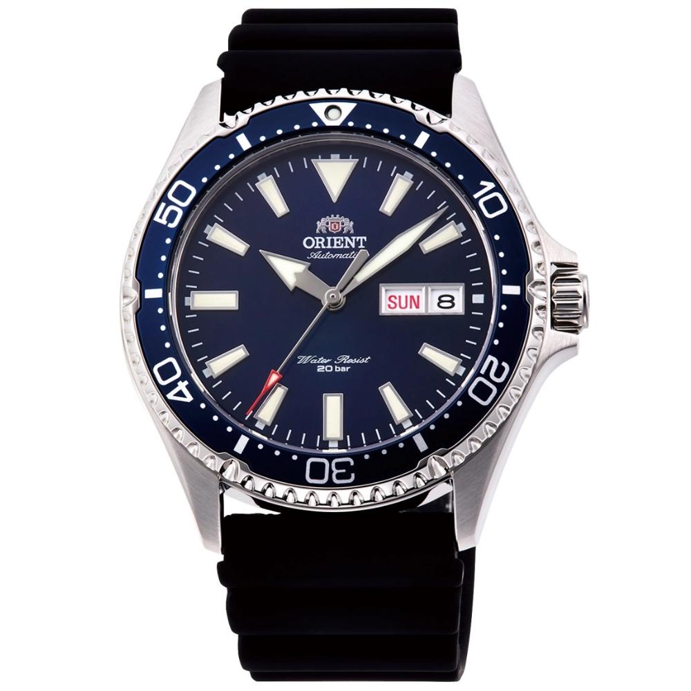 ORIENT 東方錶 深海潛龍 藍寶石鏡面 機械錶(RA-AA0006L)藍水鬼/41mm