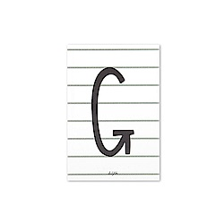 Dailylike 英文字母插畫明信片-07 G