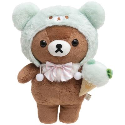 懶妹蜂蜜小熊快樂冰淇淋系列毛絨公仔 (M) 。蜂蜜小熊San-X