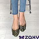 Zaxy 巴西 女 POP BOW 法式蝴蝶結娃娃鞋(墨綠)