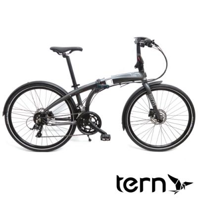 Tern Eclipse D16 26吋18速鋁合金大輪碟煞折疊單車/大折-消光灰底灰標