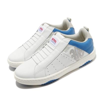 Royal Elastics 休閒鞋 Icon Manhood 2 男鞋 基本款 皮革 簡約 套腳 舒適 輕便 白 藍 06502085