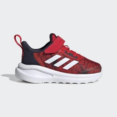 ADIDAS 慢跑鞋 魔鬼氈 運動鞋 童鞋 小童 紅 FV4266 MARVEL SPIDER-MAN FORTARUN