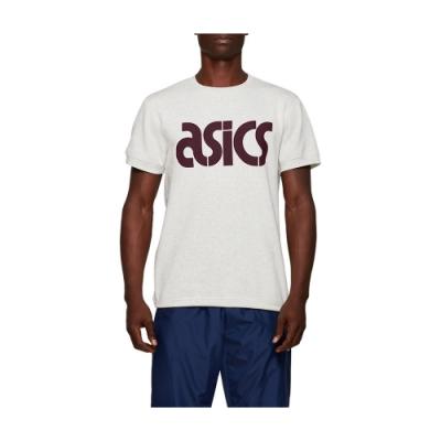ASICS LOGO短袖上衣 男 2191A147-100 (米色)