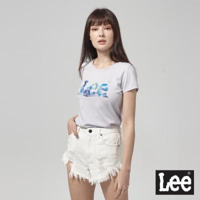 Lee短袖T恤 月光石水晶logo 紫 女