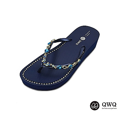 QWQ質感綴飾蝴蝶鑲結-三色任選