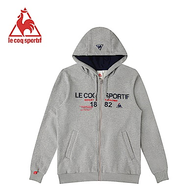 le coq sportif 法國公雞牌刷毛連帽外套 男女-灰