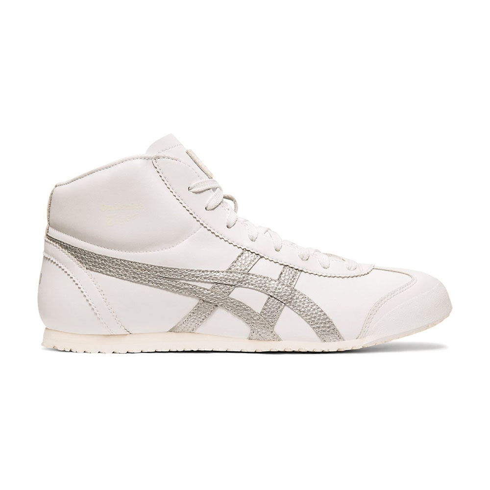 Onitsuka Tiger鬼塚虎-MEXICO 66 MID RUNNER 休閒鞋 (白底銀邊)
