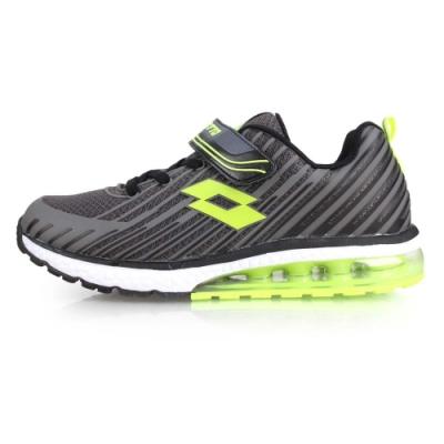 LOTTO 男女童疾風KPU氣墊跑鞋-慢跑 路跑 童鞋 灰綠