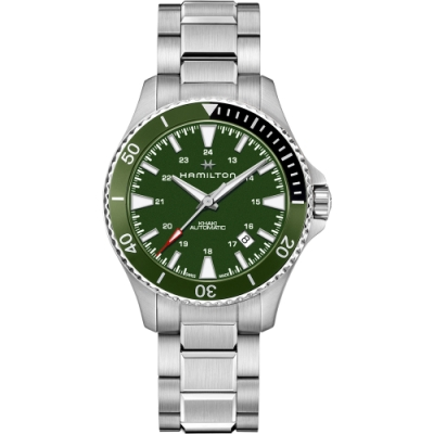 Hamilton KHAKI NAVY 卡其海軍系列 SCUBA AUTO腕錶(H82375161)-綠/40mm