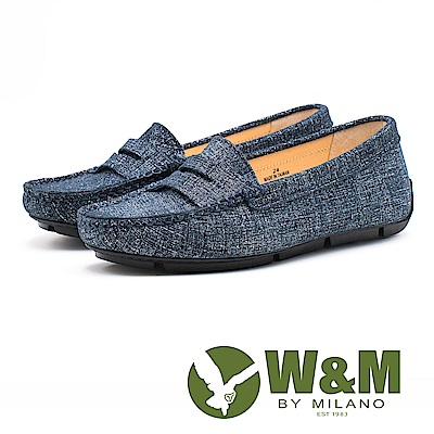 W&M 文青復古風皮鞋 女鞋-藍(另有黑)