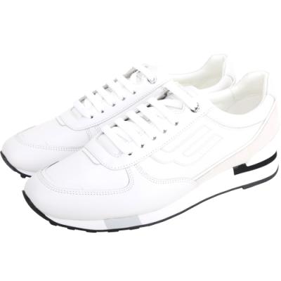 BALLY GOODY 標誌小牛皮繫帶運動鞋(男款/白色)