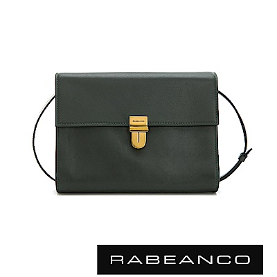 RABEANCO 時尚風琴式設計多夾層信封包 暗雲衫綠