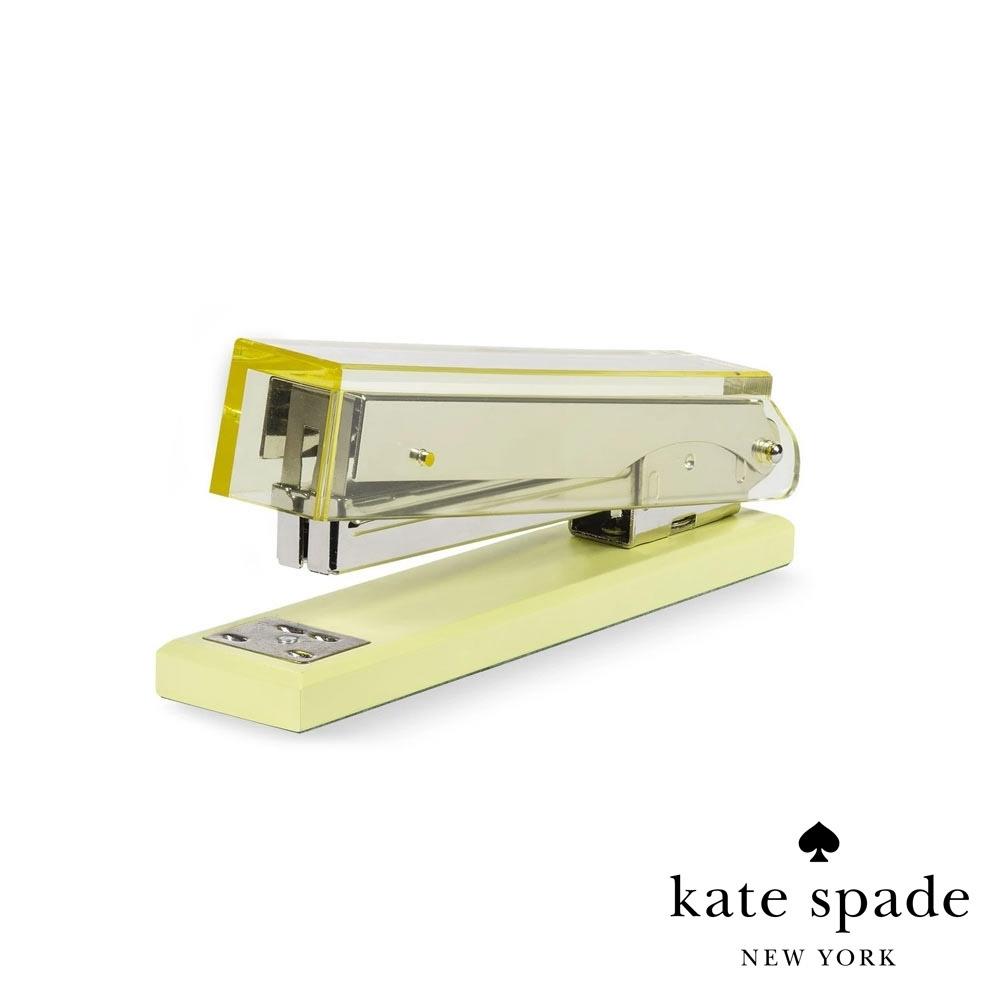 Kate Spade 質感壓克力桌上型釘書機-沁透經典黃 Stapler, Colorblock