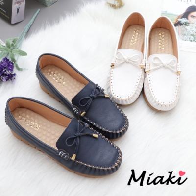 Miaki-休閒鞋-經典舒適厚底莫卡辛鞋