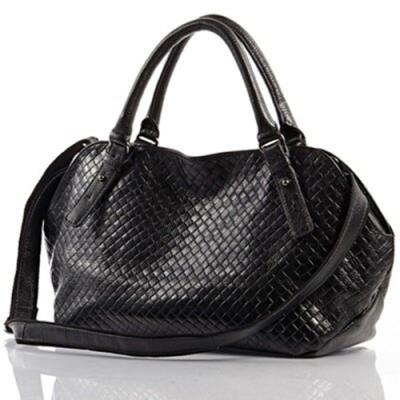 米蘭精品 手提包真皮肩背包-大容量格紋壓紋牛皮女包情人節生日禮物3色73ed9