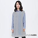 獨身貴族 都會輪廓長版背心條紋針織衫(2色)