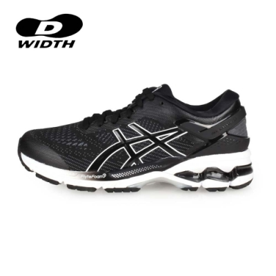 ASICS 女 慢跑鞋-D GEL-KAYANO 26 黑白