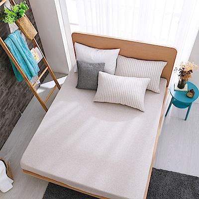 鴻宇 雙人特大床包枕套組 精梳棉針織 悠悠卡M2619