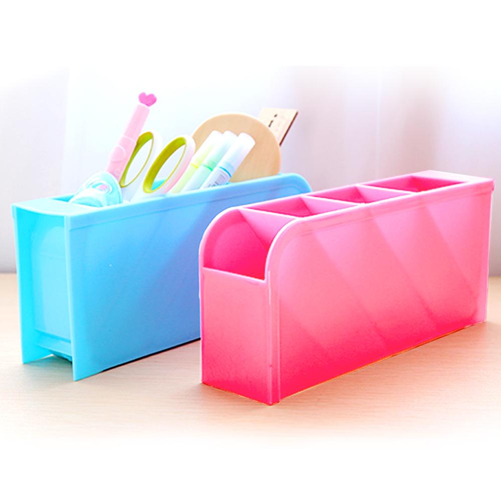 E.dot 四格可立桌面收納盒