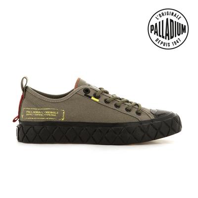 PALLADIUM PALLA ACE SUPPLY LO軍風格紋厚底鞋-中性-墨綠