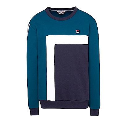 FILA 男款圓領T恤-綠 1TES-5401-DG