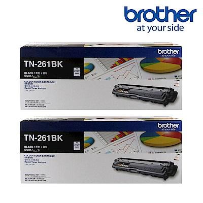 ★2入超值組★Brother TN-261BK 原廠碳粉匣