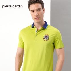 Pierre Cardin皮爾卡登 男裝  素色網眼短袖POLO衫-果綠色(5187267-42)