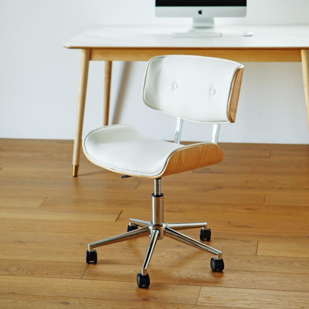 完美主義 設計款皮革木電腦椅/休閒椅/辦公椅/主管椅/餐椅(2色) product image 1