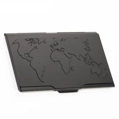 德國TROIKA世界地圖名片夾CDC15-02/BK(黑色)