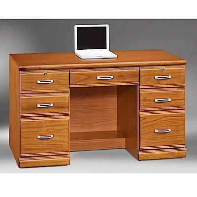 MUNA希爾達樟木色實木4.2尺書桌(下座)  127X59X76cm