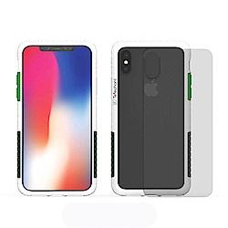 Telephant太樂芬 NMD iPhone XS MAX 白-配軍綠(附背蓋)
