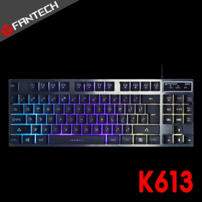 FANTECH K613 鋁合金面板87鍵多彩燈效電競鍵盤