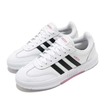 adidas 休閒鞋 Gradas 復古 低筒 女鞋 愛迪達 三線 基本款 皮革 球鞋穿搭 白 黑 FW9366