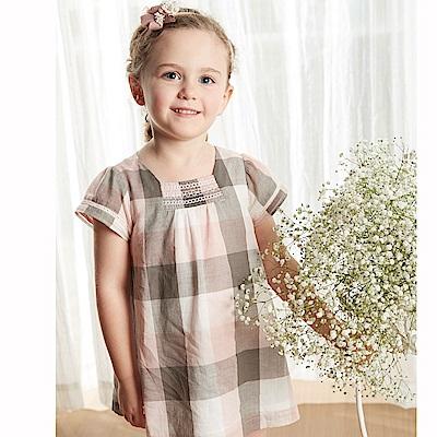 PIPPY 格子寬鬆洋裝 粉