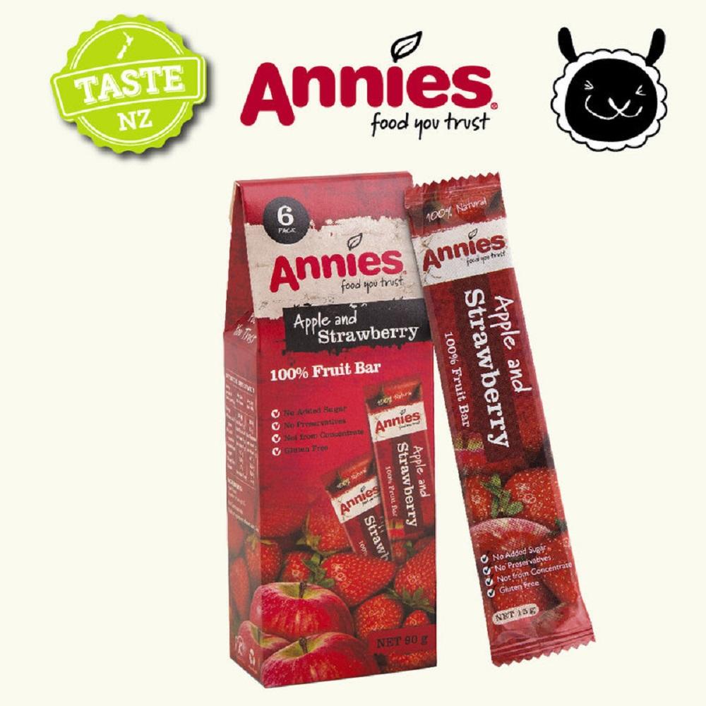 紐西蘭Annies 全天然水果條-草莓(15gx6片)