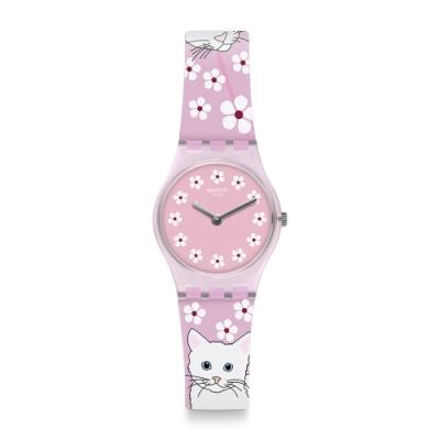 Swatch I love your folk系列手錶 MINOU MINOU 探險喵星人