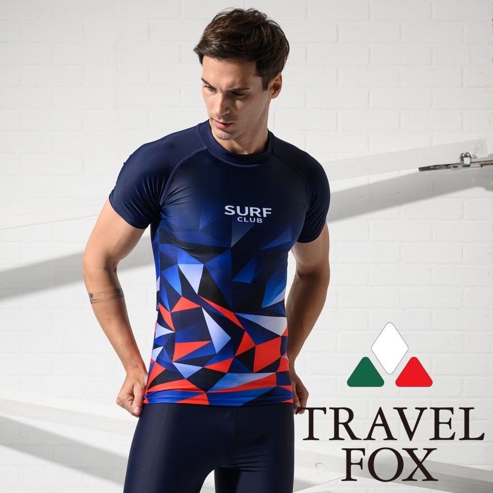 TRAVEL FOX夏之戀 大男短袖衝浪上衣
