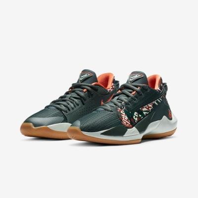 NIKE 籃球鞋 緩震 包覆 運動鞋 大童 女鞋 綠 DD0012300 FREAK 2 GS