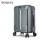 Bogazy 迷宮迴廊 18吋菱格紋可加大行李箱(靜謐綠)